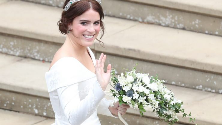 Princess Eugenie's second wedding dress was an ethereal gift from above and this unseen photo proves it
