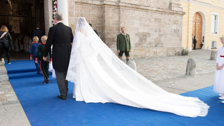 Germany's Duchess Sophie has gotten married in a dress that's IDENTICAL to Meghan's