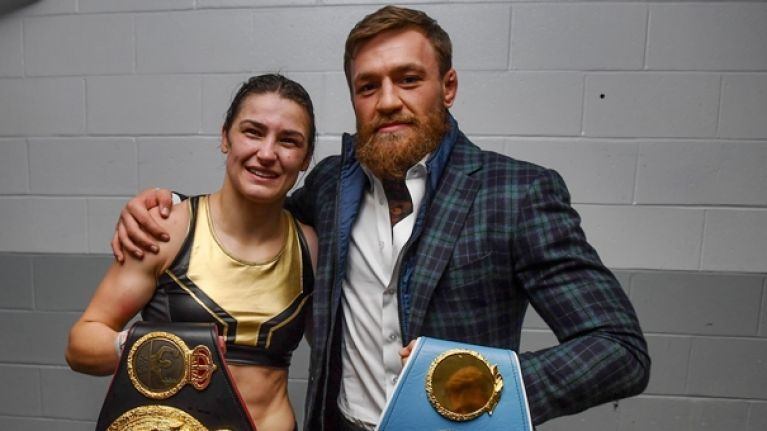 Conor McGregor's dressing room speech to Katie Taylor is something special