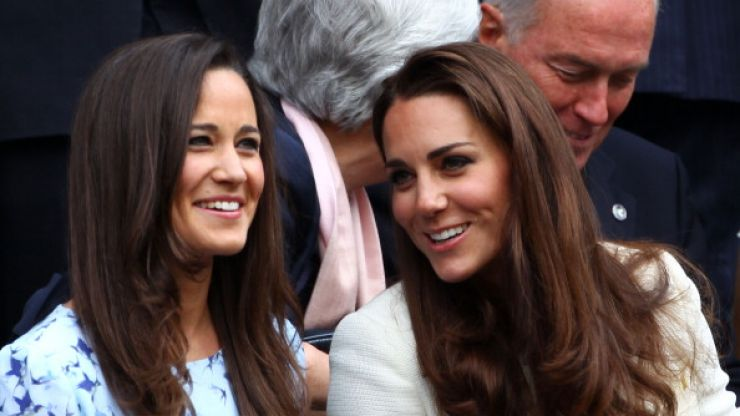 Duchess Kate and her sister Pippa pictured in the exact same high-street dress