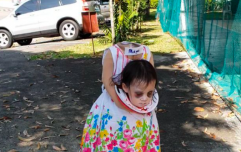 This two-year-old girl has won Halloween with her headless costume