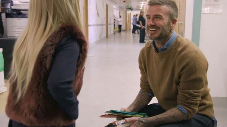 David Beckham just surprised an eleven-year-old girl in hospital, and we're crying