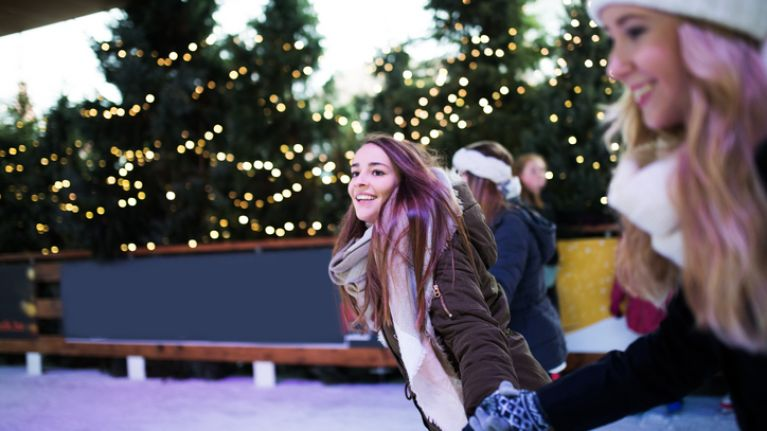 You burn a CRAZY number of calories ice-skating so, get those skates on girl