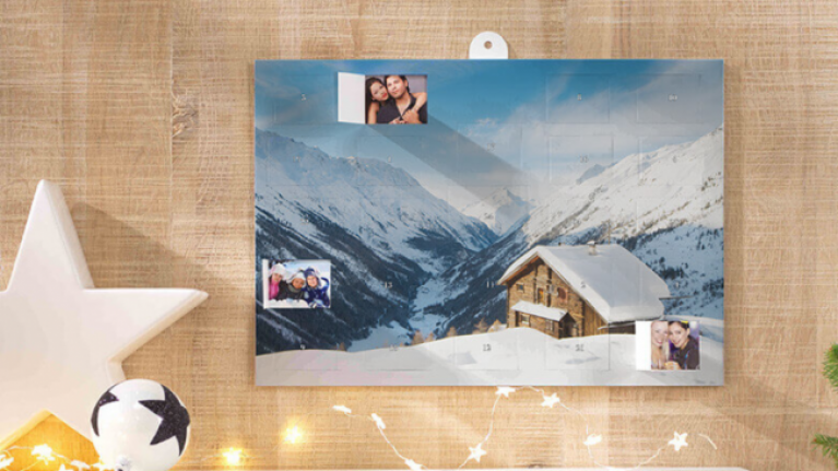 This Advent calendar reveals a picture of your friends and family each day