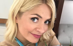 We are OBSESSED with the red leather mini dress that Holly Willoughby just wore