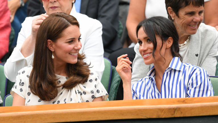 Looks like Meghan and Kate have gone for VERY similar looks for Prince Charles's birthday