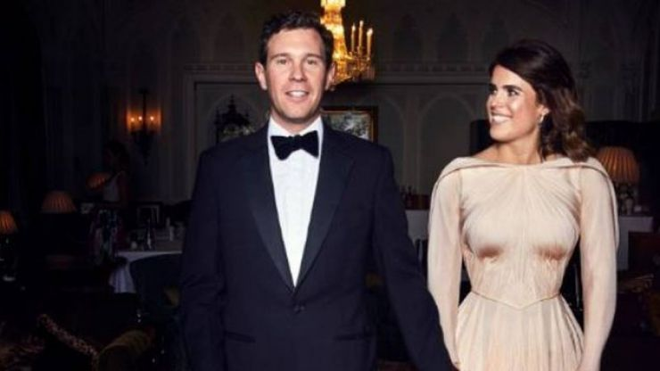 Zac Posen just shared a never-before-seen picture of Princess Eugenie's reception dress