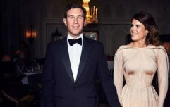 Eeek! We've just gotten a better look at Princess Eugenie's second wedding dress