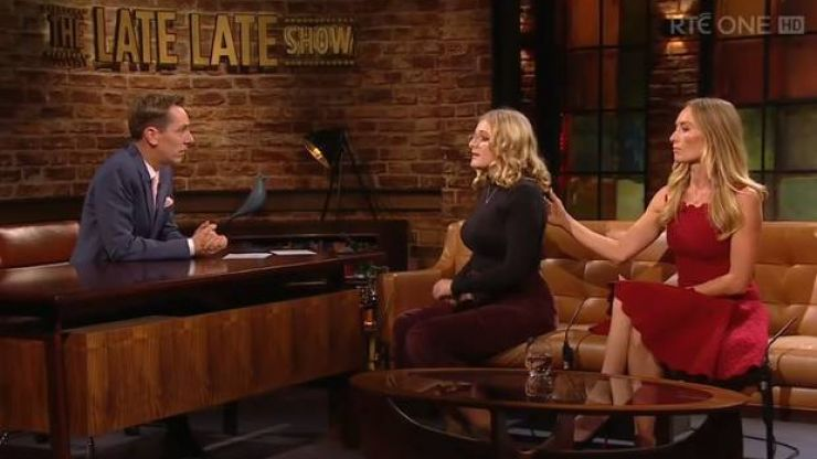 Victoria Smurfit's daughter, Evie, praised for bravely opening up about rare eye condition on Late Late Show