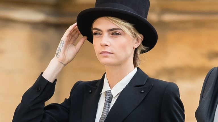 edc01641bc Cara Delevingne texted Princess Eugenie about her outfit before the wedding  and this was the royal