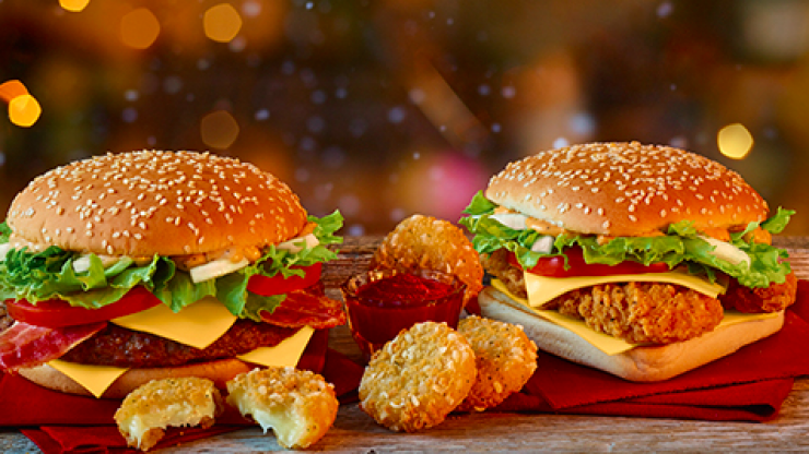 McDonalds officially launches its new Christmas menu for the festive season