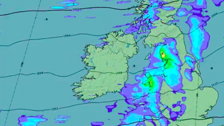 Met Éireann has issued an orange weather warning for these two counties