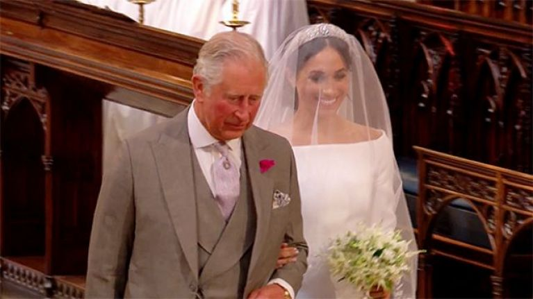 Prince Charles has the sweetest photo of himself and Meghan Markle framed in his home