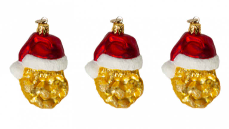 McDonalds just launched chicken nugget Christmas decorations, and OMG