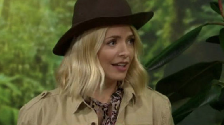 Yikes! Looks like Holly's feud with Noel Edmonds has continued on the I'm A Celeb set