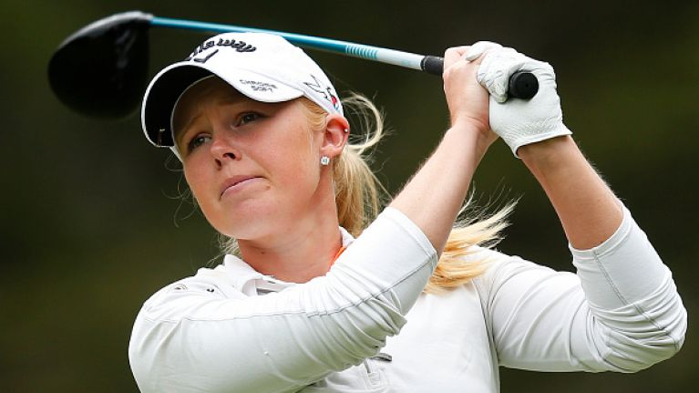 The first female athlete has been awarded Professional Player of the Year at golf awards