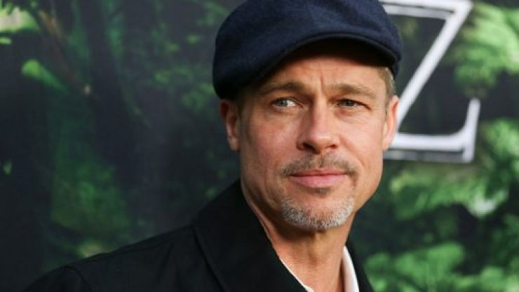 Brad Pitt made a joke about Harry and Meghan last night in front of Prince William