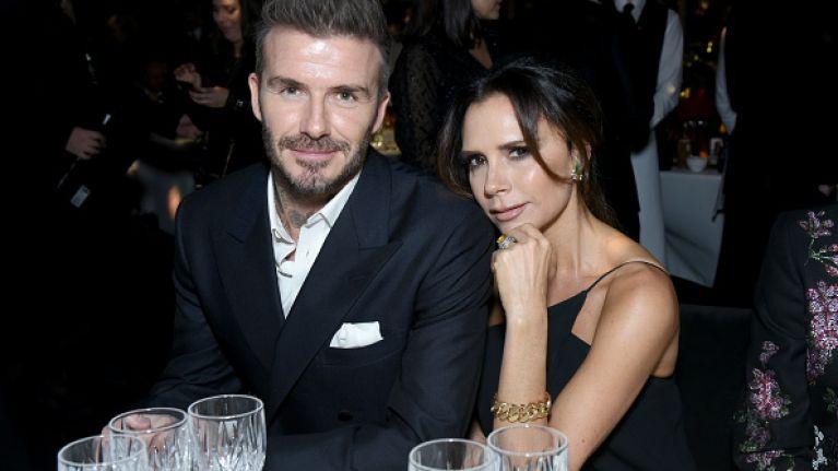 Victoria Beckham left unimpressed by joke about her husband at British Fashion Awards