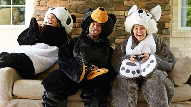 Always cold? Because we've found a necessary GIANT teddy sleeping bag for winter