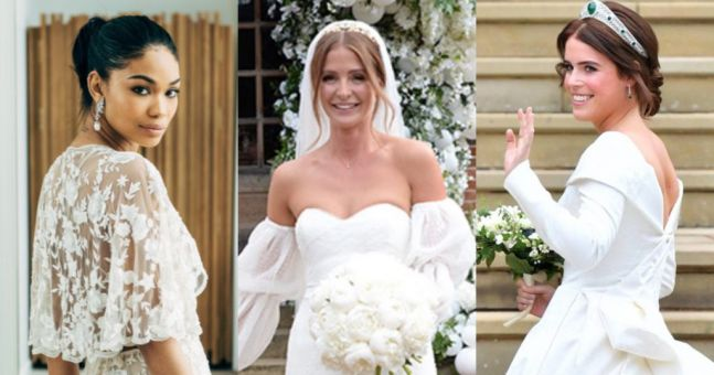 Our Top 20 Celebrity Wedding Dresses Of 2018 Her Ie