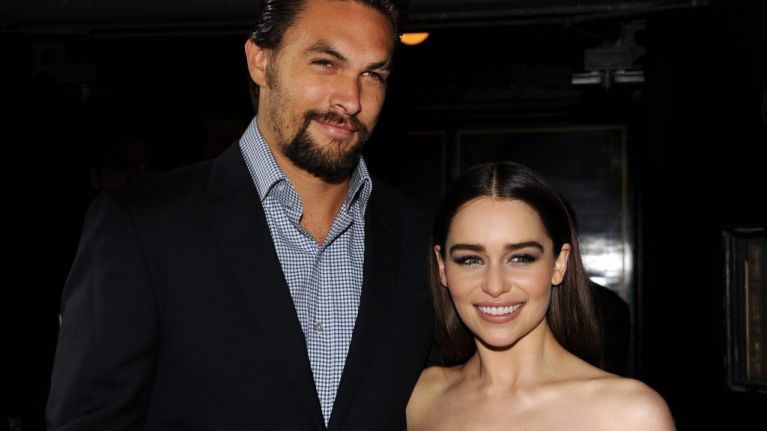 'We almost lost her': Jason Momoa tells emotional story about Emilia Clarke's health scare