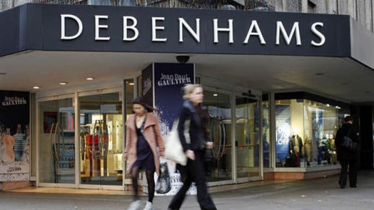 Debenhams is reportedly set to close all its stores in Ireland permanently