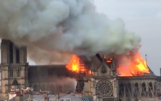 Notre Dame Cathedral in Paris has been evacuated due to a fire