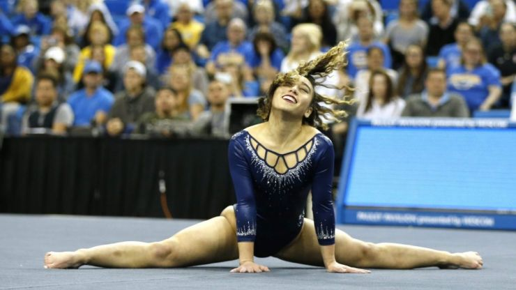 Superstar gymnast Katelyn Ohashi kills it at her final college championship routine