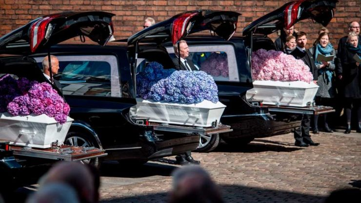 The funerals have been held for the three children of ASOS founder, Anders Holch Povlsen
