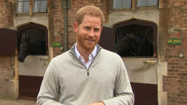 Prince Harry just spoke as a new dad for the first time and he was absolutely beaming