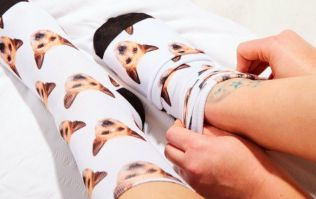You can now get your dog's face printed all over your socks