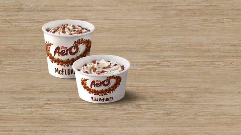 Rejoice! McDonald's are bringing back Aero McFlurrys