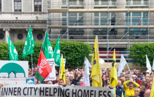 Thousands of people attend housing crisis protest in Dublin city centre