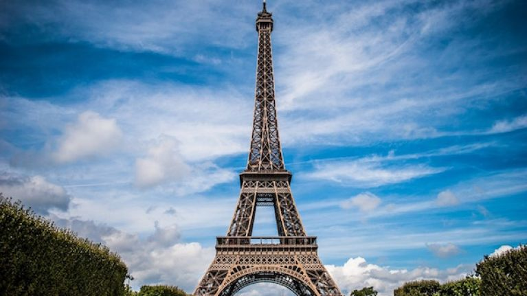 Eiffel Tower evacuated after man spotted climbing up the side