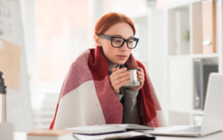 Women work better in a warm office so crank up the heating, gals