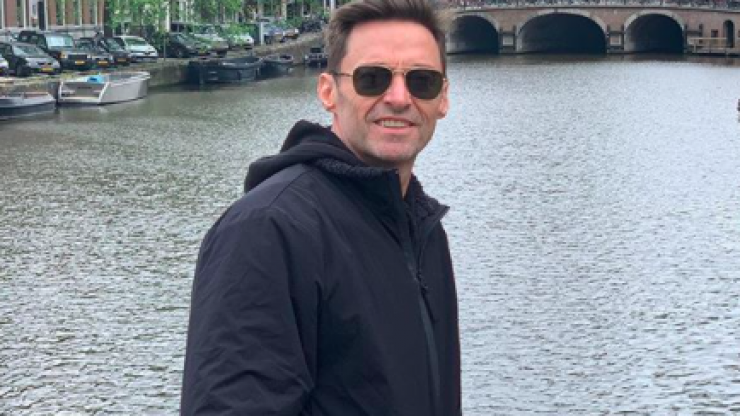 Hugh Jackman spent the morning cycling around Dublin ahead of his 3Arena show