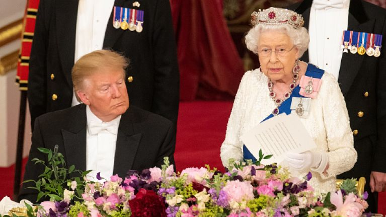 People reckon that the Queen threw shade at Donald Trump with her tiara