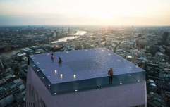 A 360 degree infinity pool is opening on top of a skyscraper in London