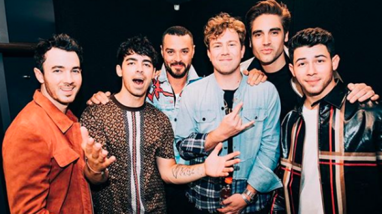 The Jonas Brothers performed with BUSTED yesterday, and we're extremely shook