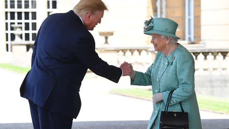 3a5fb99440b Twitter has some intense reactions to Trump meeting the Queen | Her.ie