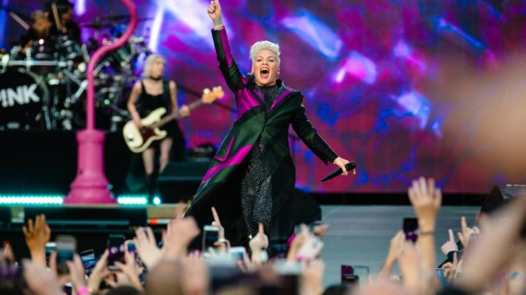 Raise your glasses for P!nk: the star sparkles at a sold-out RDS Arena