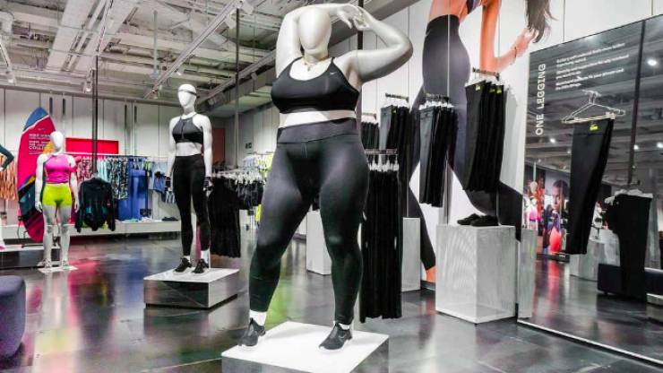 Searches for plus-size activewear have risen exponentially since Nike's new mannequins