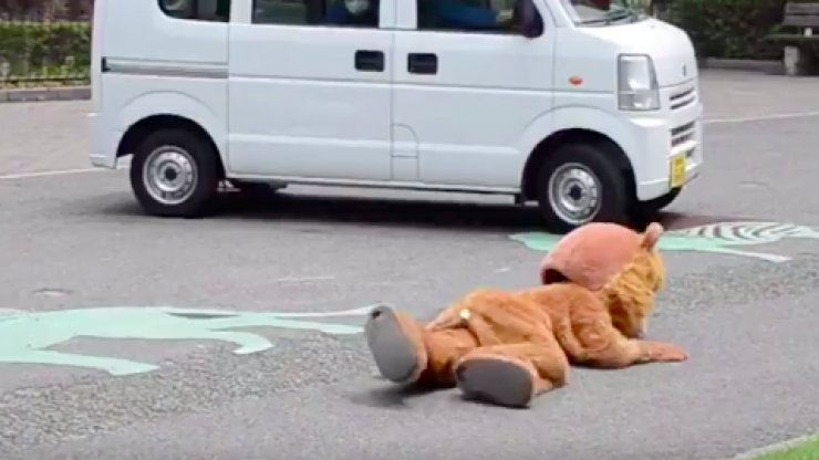 A zoo in Japan had a 'lion escape drill' and yes, there was a guy in a furry suit