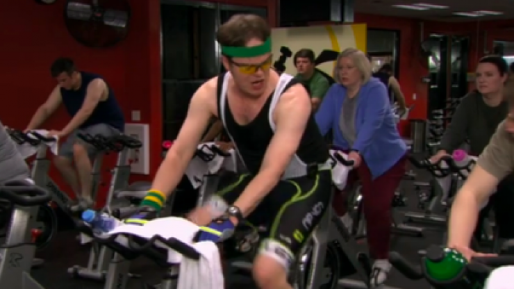 The 6 emotional stages of going spinning with your mate