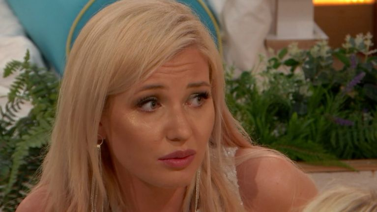 Love Island's Amy reportedly removed from the villa for temporary therapy