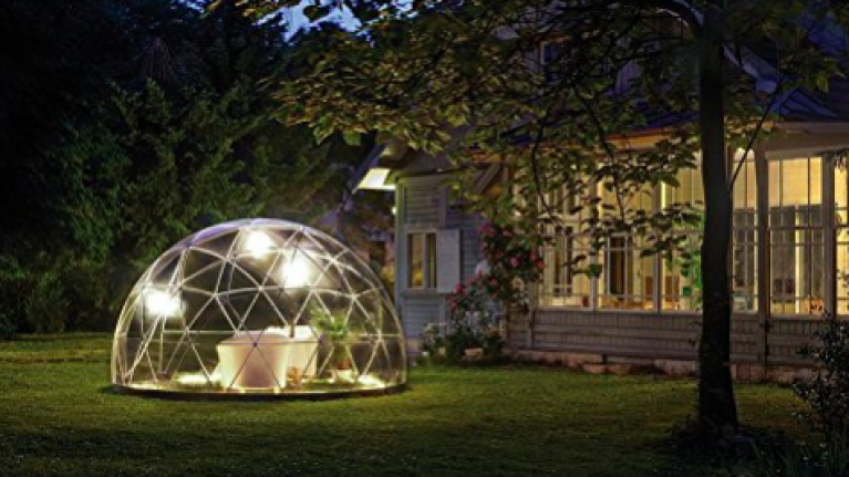 You can now buy a glamping dome for your back garden that fits about four people