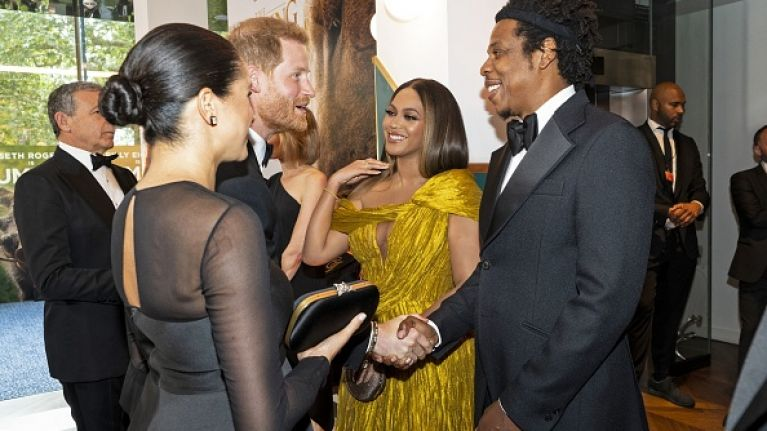 Here's what Meghan Markle and Beyoncé said to each other at the Lion King premiere