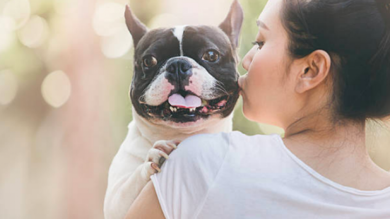 Over half of dog owners kiss their pet more than their partner and yeah, same