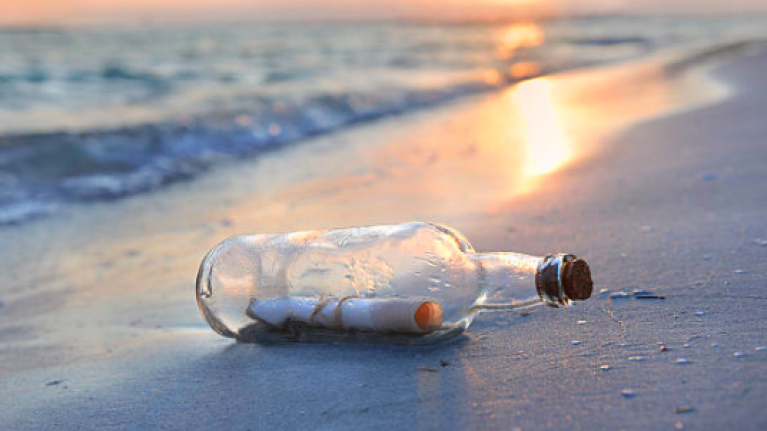 Boy finds message in a bottle that was thrown over ship in 1969