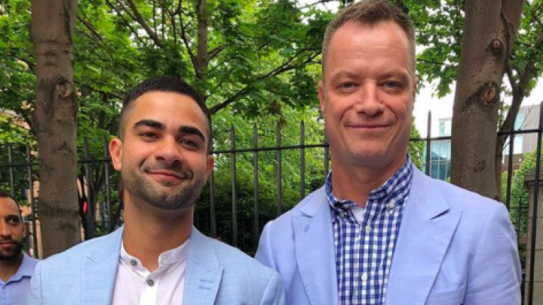 Rory O'Neill (aka Panti Bliss) married his longterm partner Anderson Cabrera yesterday